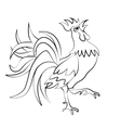 Image rooster silhouette on a white background vector image