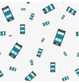 Seamless technical pattern - smartphone on grey vector image
