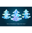 Colorful watercolor abstract Christmas tree vector image