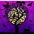 Halloween background with stylized tree vector image