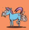 Horse Man Hole vector image