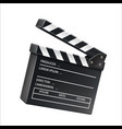 3d film clapboard movie shooting sign vector image vector image