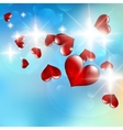 a bright flow hearts vector image