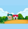 a rural village scene vector image vector image
