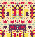abstract colorful geometric design pattern vector image vector image
