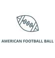 american football ball line icon american vector image