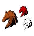 Angry stallion mascot vector image vector image