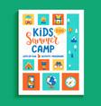 banner for kids summer camp vector image vector image