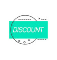 blue label saying discount vector image vector image