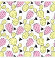 Cactus pastel seamless pattern. vector image vector image