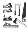 carpentry tools logo templates vector image