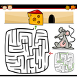 cartoon maze or labyrinth game vector image vector image