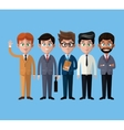 cartoon men business fashion suit necktie vector image