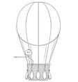 cartoon of man or businessman in hot air ballon vector image
