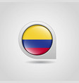 colombia flag map pointer design vector image