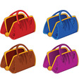 color handbags vector image