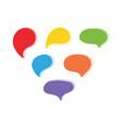 colorful cartoon style speech bubbles vector image vector image