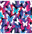 Colorful seamless pattern with butterfly vector image vector image
