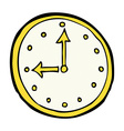 comic cartoon clock symbol vector image vector image