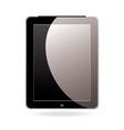 computer tablet black vector image vector image