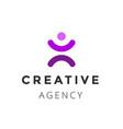creative agency logo design template vector image vector image