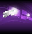 cursor click hi tech button vector image vector image