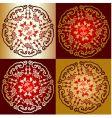 decorative Oriental designs vector image vector image