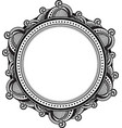 decorative unusual round frame with empty place vector image
