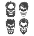 different skull character set vector image