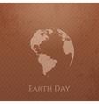 Earth Day cardboard Banner Design vector image