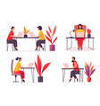 employee or worker at office or workspace vector image