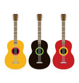flat guitar musical instrument flat vector image vector image