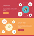 flat icons support limit mind and other vector image vector image