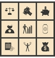 Flat in black and white concept business icons