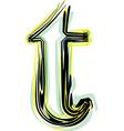 font letter t vector image vector image