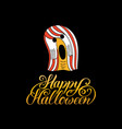 ghost with happy halloween vector image vector image