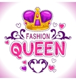 Glamour girlish print vector image vector image