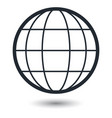 globe earth icons on white background vector image vector image
