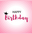 happy birthday card for men on pink circles vector image vector image