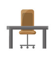 isolated desk and chair vector image vector image