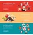 Japan Banners Set vector image