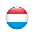 luxembourg flag on button vector image vector image