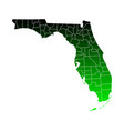 map florida vector image vector image