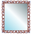 Mirror in frame vector image