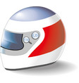 motorcycle helmet on a white background vector image