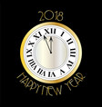 new years eve silver gold clock on black vector image vector image