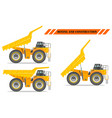 off-highway truck with different body position vector image vector image