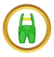 Pants with suspenders icon vector image vector image