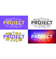 project flat line concept for web banner and vector image