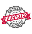 quickstep stamp sign seal vector image vector image